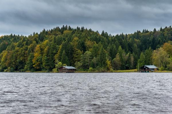 autumn at the kirchsee near sachsenkam