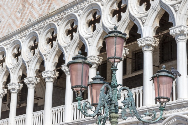 old street lamp in venice against