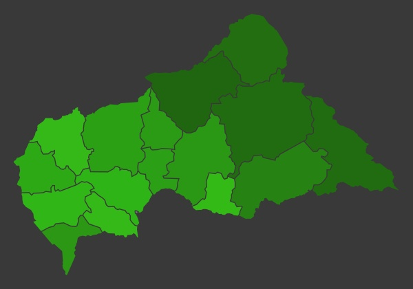 central african republic population heat map