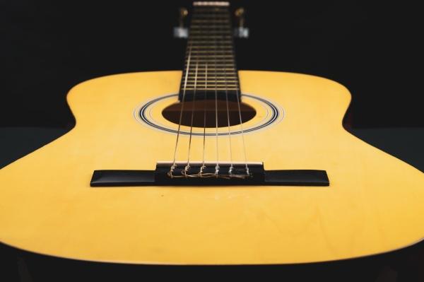 acoustic guitar close up musical