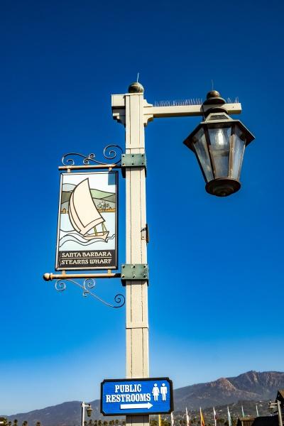 touristic sign santa barbara stearns wharf