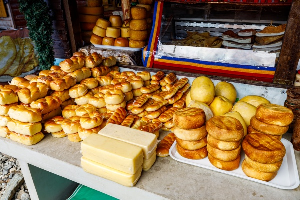 homemade cheese in the carpathian of