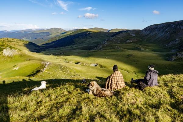romanian herder in the carpathian