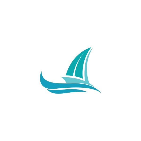 cruise ship logo icon design template