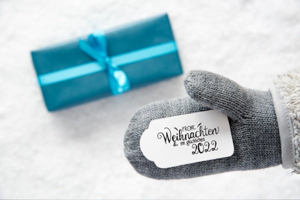 gray glove turquoise gift