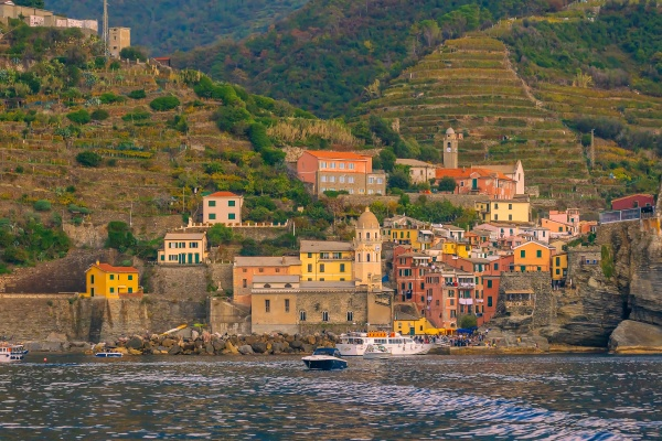 vernazza colorful cityscape on the