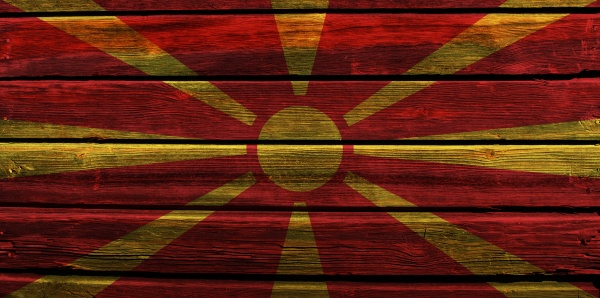 3d flag of north macedonia on