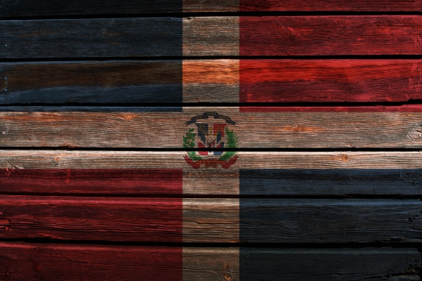 3d flag of dominican republic on