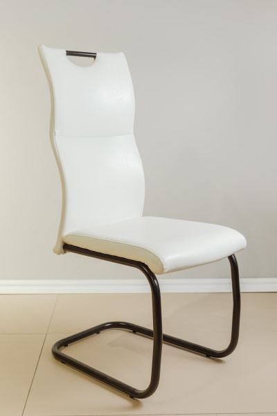 modern chair with anatomic back
