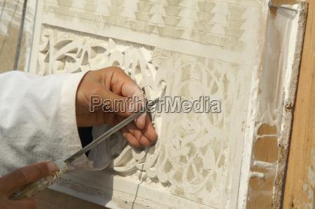 moroccan, plasterer, at, work - 57521