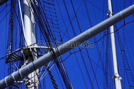 white masts