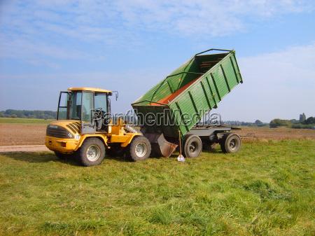 campo trigo trailer trator pa semente
