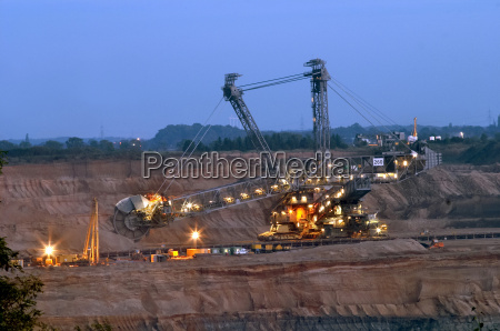 excavator, in, opencast, mine, hambach - 146162