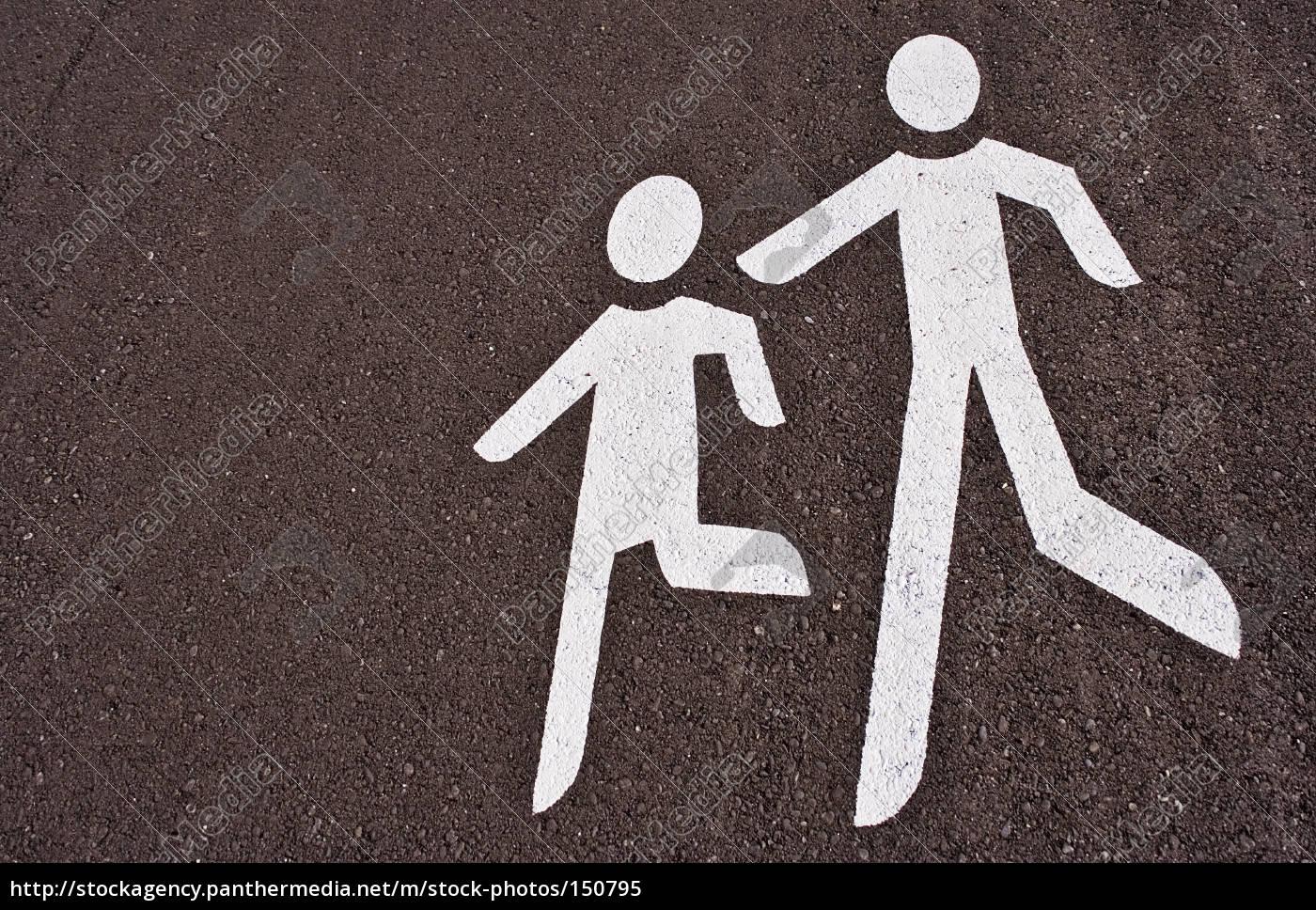 caution, pedestrian - 150795