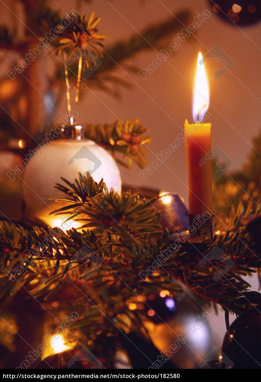 candle, on, christmas, tree - 182580