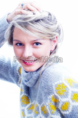 woman, in, sweater - 186541