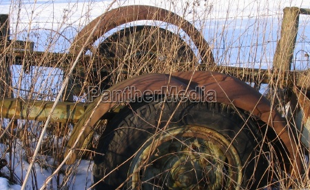 agriculture farming vehicle rust scrap mull
