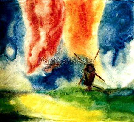 watercolor style emil noldes
