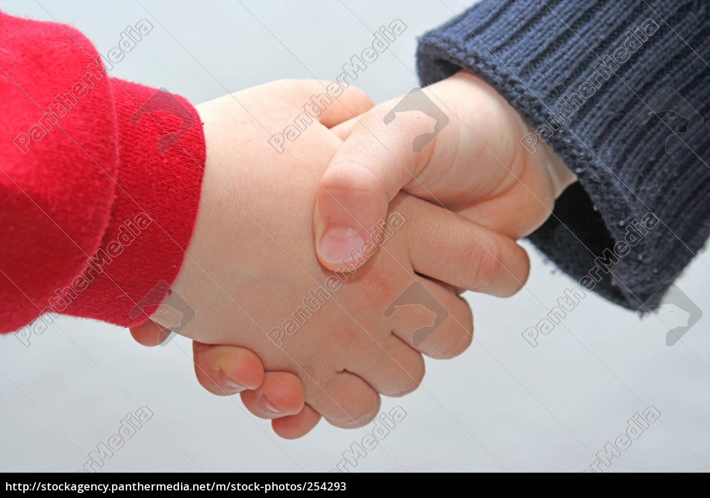 children, handshake - 254293