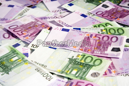 100, and, 500, euro, bills - 268431
