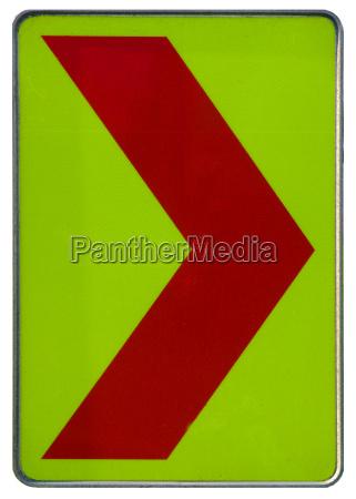 yellow red arrow