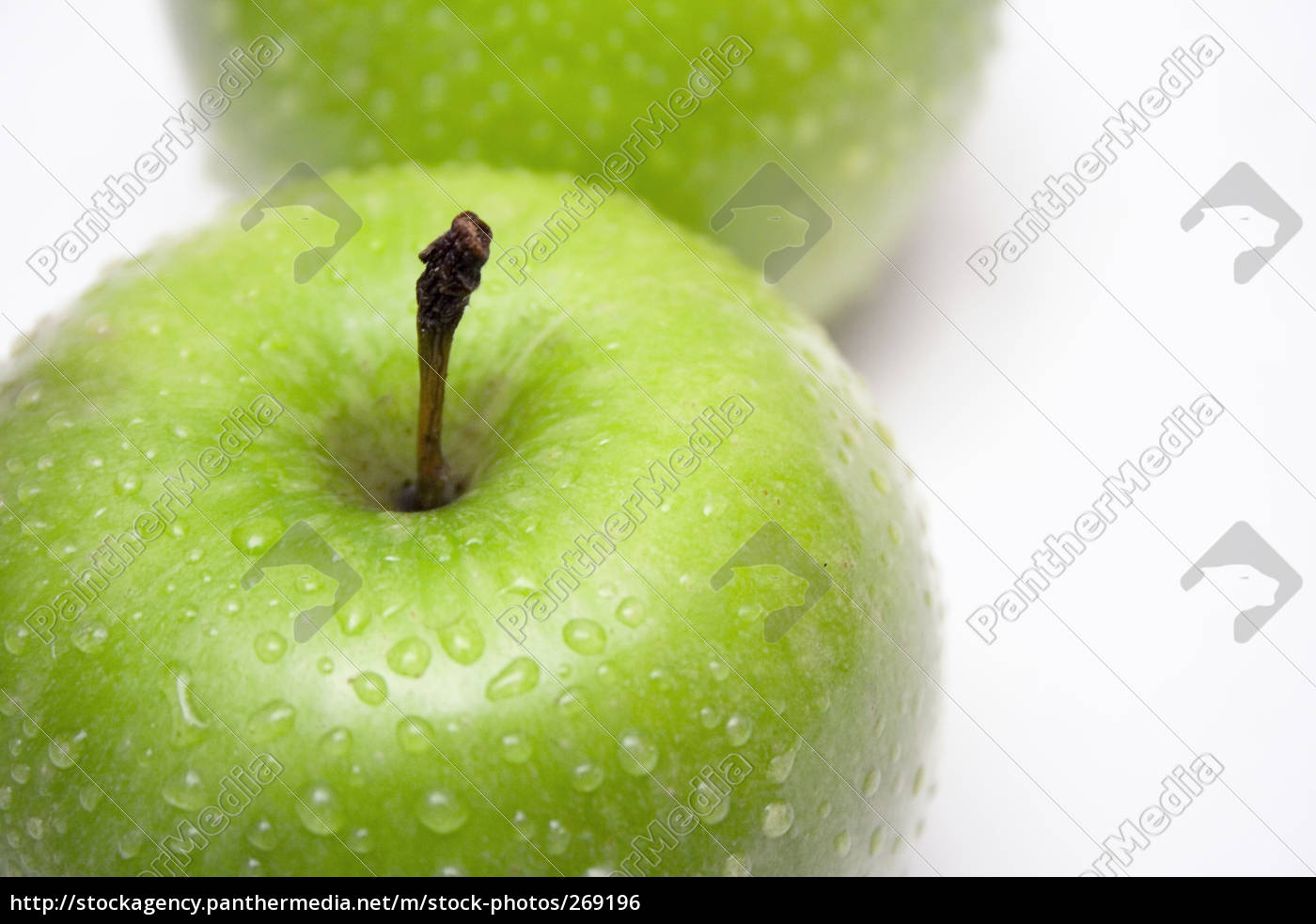 two, green, wet, apples - 269196