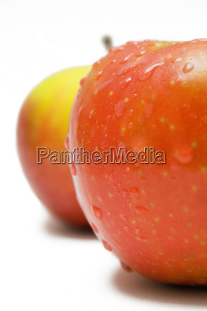 red, and, yellow, wet, apples, closeup - 270158