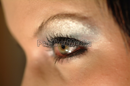 captivating eye of a woman