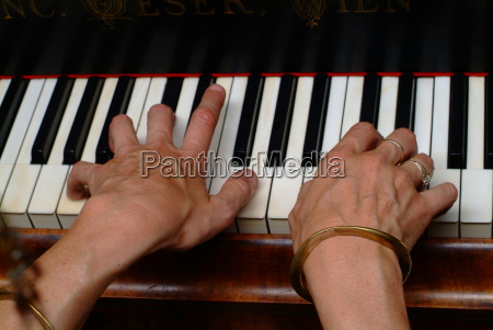 touched piano music keyboard