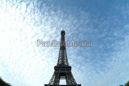 eiffel tower centrally