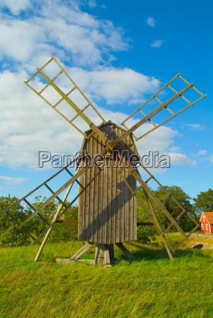 windmill in sweden