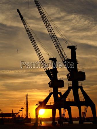 containerkräne, am, rostocker, überseehafen - 281149
