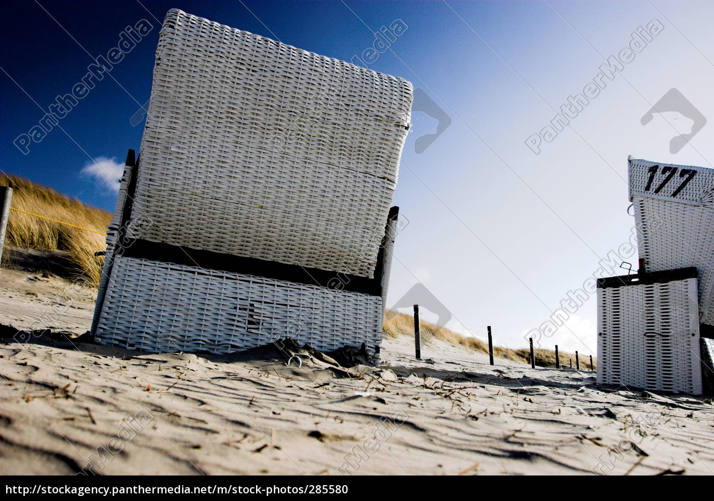 blue, sky, beach, chair - 285580