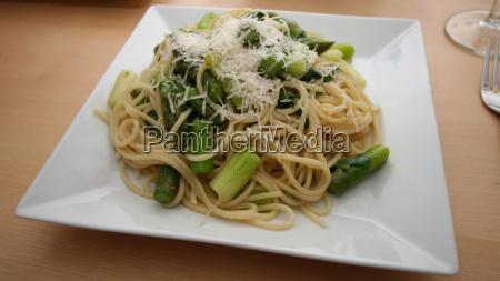 asparagus and rocket spaghetti no 1