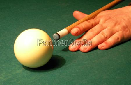 mao dedo jogo desempenha jogar bilhar