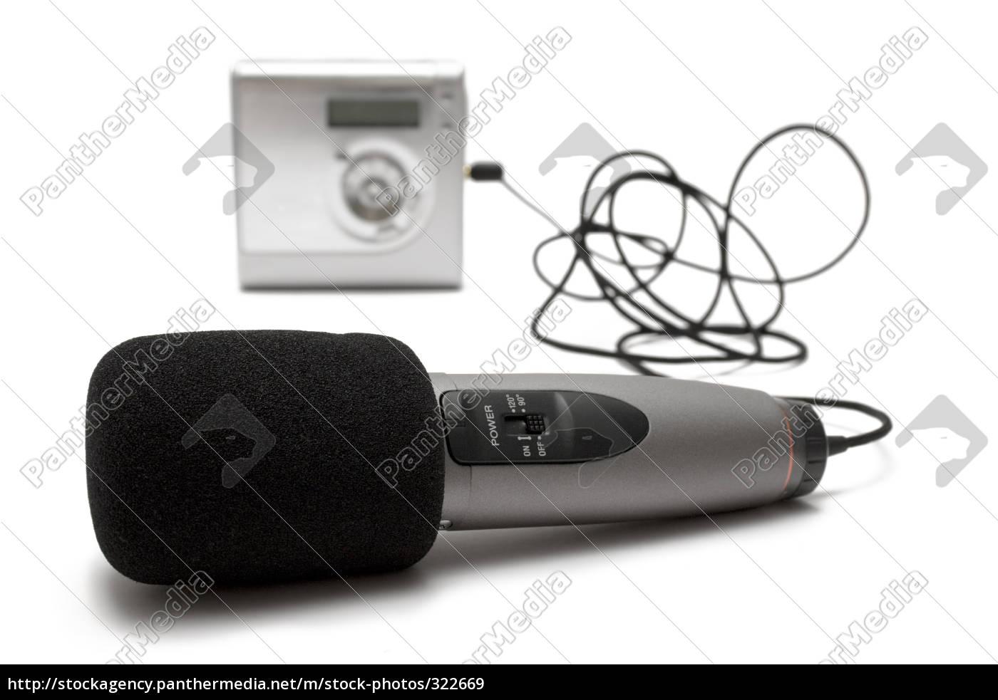 microphone, with, minidisc, recorder - 322669