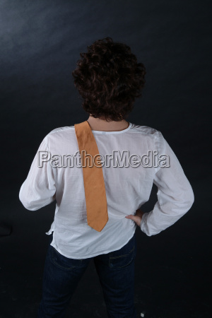 man shouldering tie 2