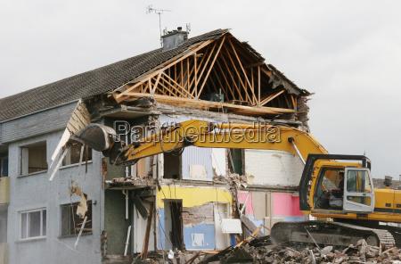 excavator, during, demolition, 2 - 344957
