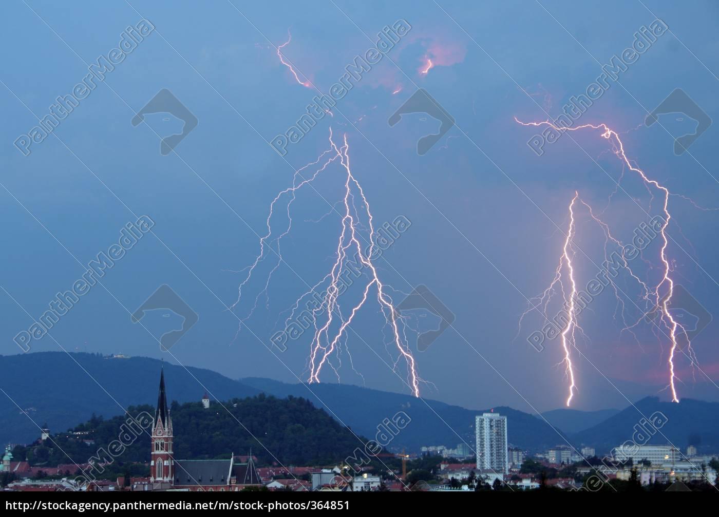 cities, lightning - 364851
