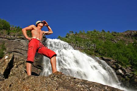refreshing view while hiking