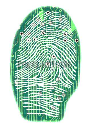 digital, fingerprint, 1 - 375033