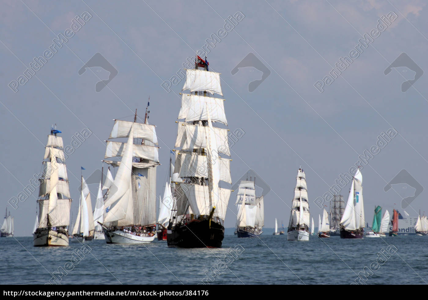 windjammer, regatta, off, warnemünde - 384176