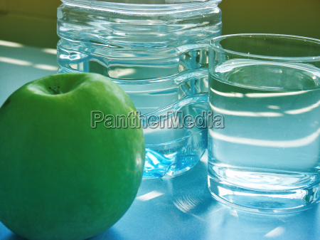 blue glass chalice tumbler office food