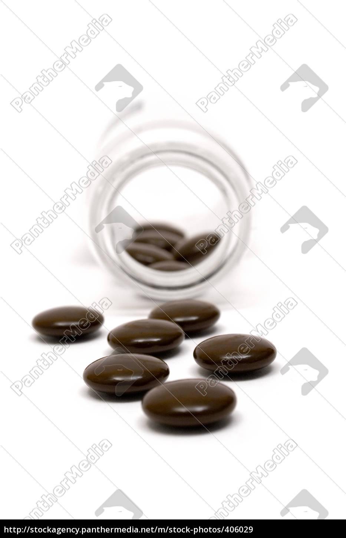 brown, pills - 406029