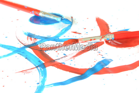 painting, with, brush, and, paint - 407985