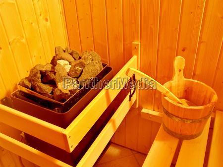 sauna stove and bucket