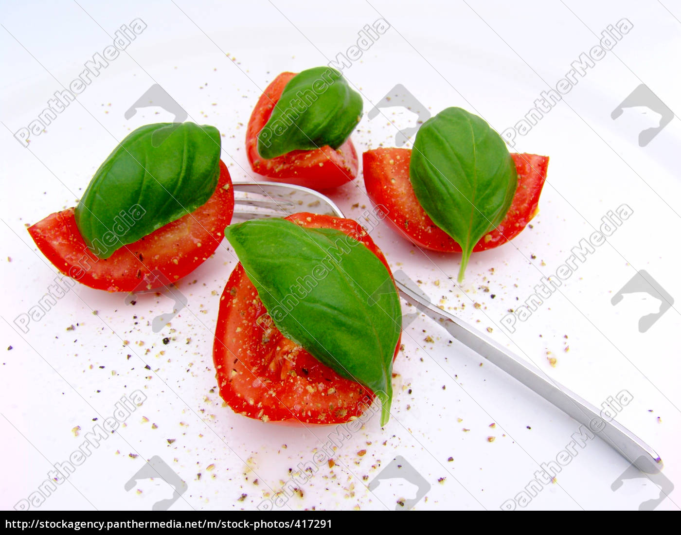tomato, with, basil - 417291