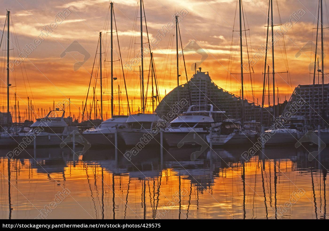 camargue, la-grande-motte, evening, harbor - 429575