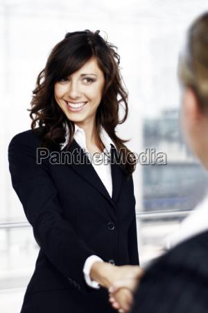 businesswoman, handshake - 434493