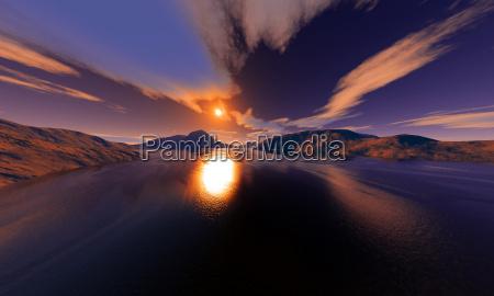 mountains sunset summit climax peak glacier